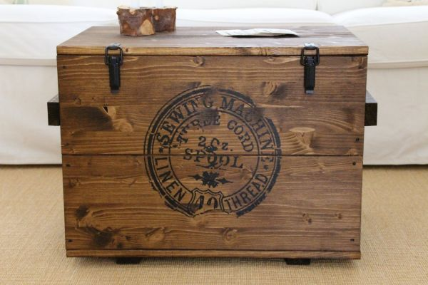 "Truhe Cargobox ""Sewing Machine"" dunkel"